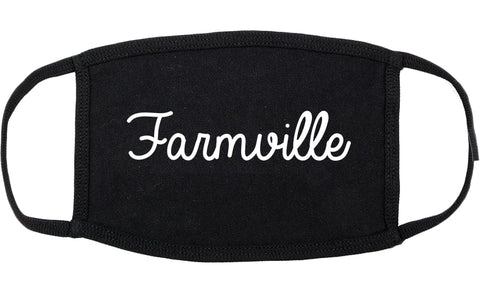Farmville Virginia VA Script Cotton Face Mask Black