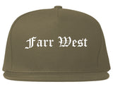 Farr West Utah UT Old English Mens Snapback Hat Grey