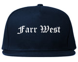 Farr West Utah UT Old English Mens Snapback Hat Navy Blue