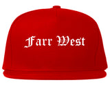 Farr West Utah UT Old English Mens Snapback Hat Red