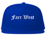 Farr West Utah UT Old English Mens Snapback Hat Royal Blue