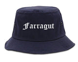 Farragut Tennessee TN Old English Mens Bucket Hat Navy Blue