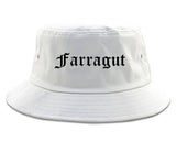 Farragut Tennessee TN Old English Mens Bucket Hat White