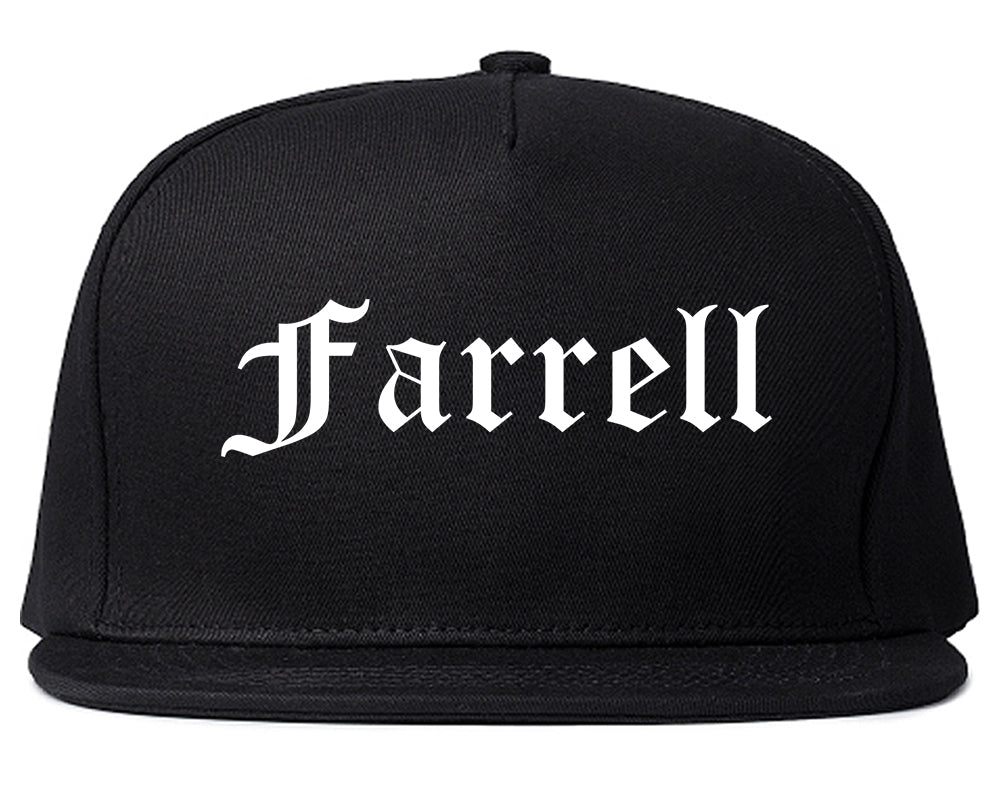 Farrell Pennsylvania PA Old English Mens Snapback Hat Black