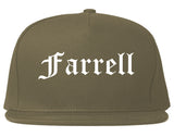 Farrell Pennsylvania PA Old English Mens Snapback Hat Grey