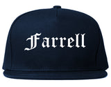 Farrell Pennsylvania PA Old English Mens Snapback Hat Navy Blue