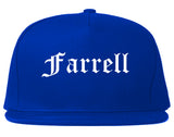 Farrell Pennsylvania PA Old English Mens Snapback Hat Royal Blue