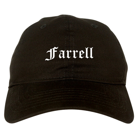 Farrell Pennsylvania PA Old English Mens Dad Hat Baseball Cap Black