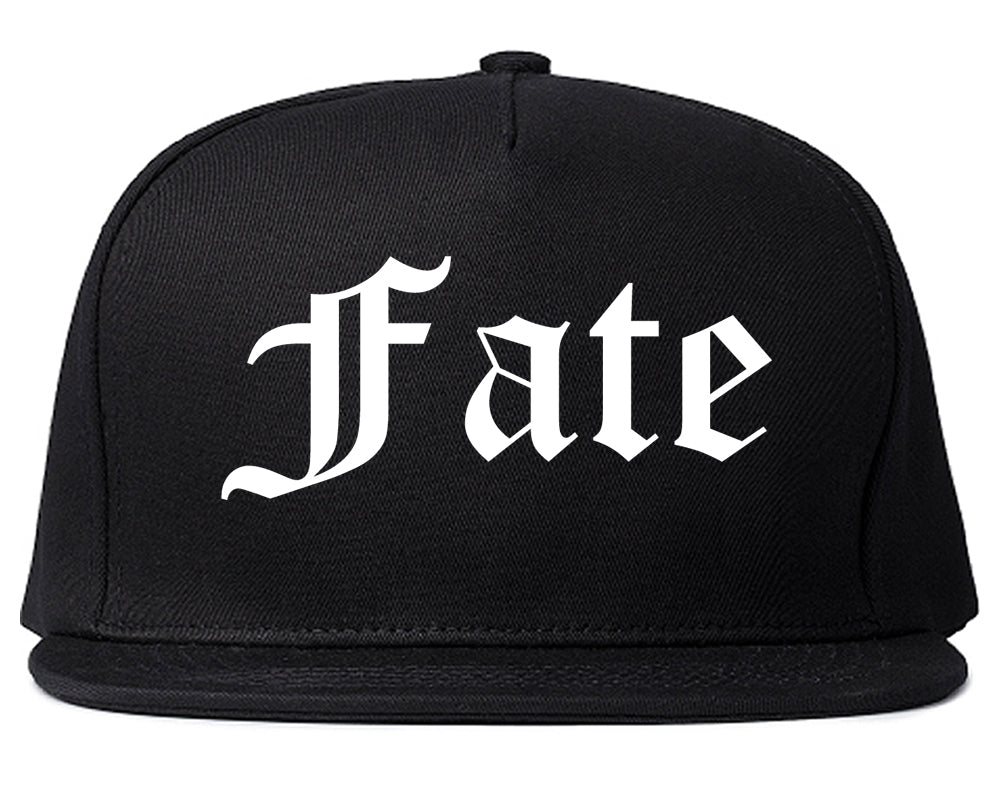 Fate Texas TX Old English Mens Snapback Hat Black