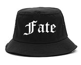 Fate Texas TX Old English Mens Bucket Hat Black