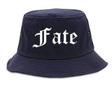 Fate Texas TX Old English Mens Bucket Hat Navy Blue