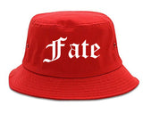 Fate Texas TX Old English Mens Bucket Hat Red