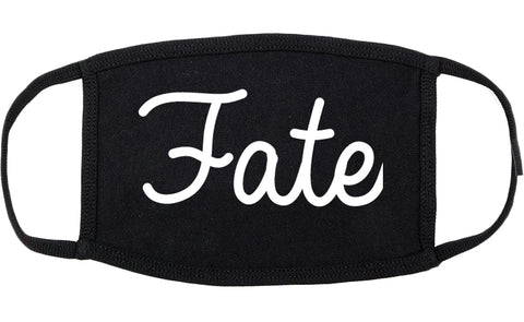 Fate Texas TX Script Cotton Face Mask Black