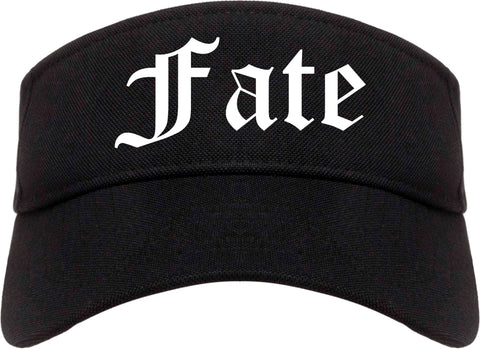 Fate Texas TX Old English Mens Visor Cap Hat Black