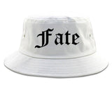 Fate Texas TX Old English Mens Bucket Hat White