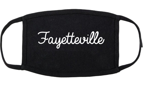 Fayetteville Georgia GA Script Cotton Face Mask Black