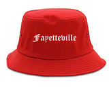 Fayetteville Tennessee TN Old English Mens Bucket Hat Red