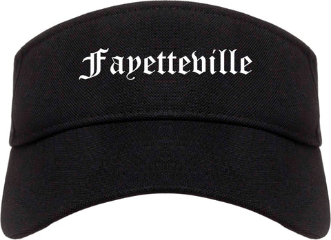 Fayetteville Tennessee TN Old English Mens Visor Cap Hat Black