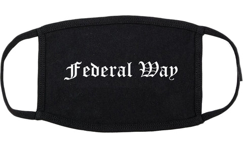 Federal Way Washington WA Old English Cotton Face Mask Black