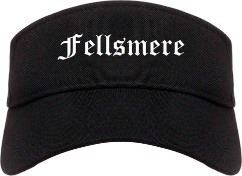 Fellsmere Florida FL Old English Mens Visor Cap Hat Black