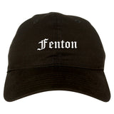 Fenton Michigan MI Old English Mens Dad Hat Baseball Cap Black