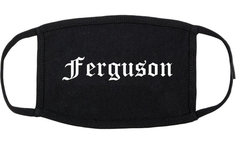 Ferguson Missouri MO Old English Cotton Face Mask Black