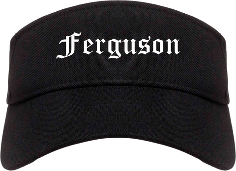 Ferguson Missouri MO Old English Mens Visor Cap Hat Black