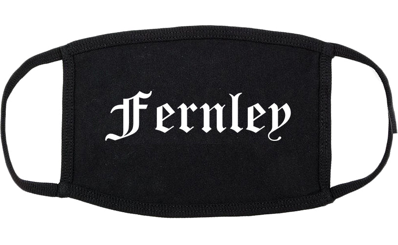 Fernley Nevada NV Old English Cotton Face Mask Black