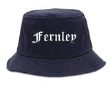 Fernley Nevada NV Old English Mens Bucket Hat Navy Blue