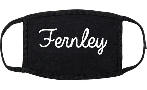 Fernley Nevada NV Script Cotton Face Mask Black