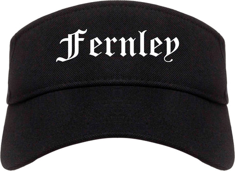 Fernley Nevada NV Old English Mens Visor Cap Hat Black