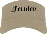 Fernley Nevada NV Old English Mens Visor Cap Hat Khaki