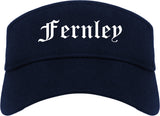 Fernley Nevada NV Old English Mens Visor Cap Hat Navy Blue