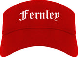 Fernley Nevada NV Old English Mens Visor Cap Hat Red
