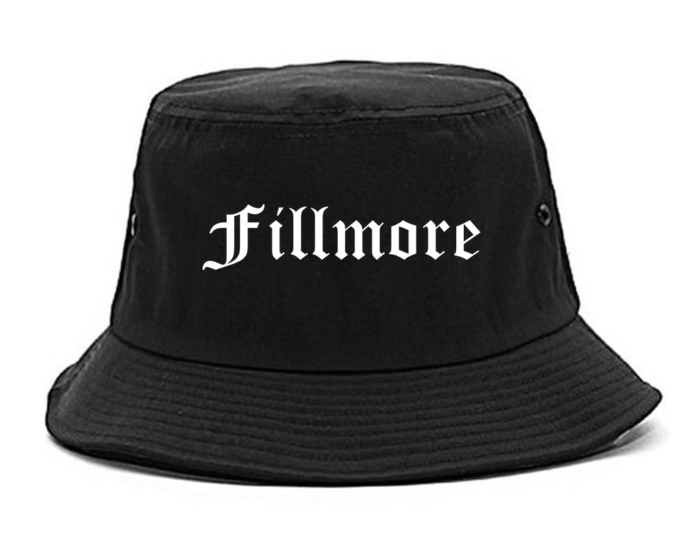 Fillmore California CA Old English Mens Bucket Hat Black
