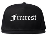 Fircrest Washington WA Old English Mens Snapback Hat Black