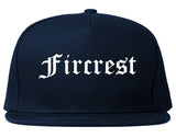 Fircrest Washington WA Old English Mens Snapback Hat Navy Blue