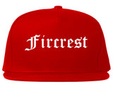 Fircrest Washington WA Old English Mens Snapback Hat Red