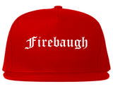 Firebaugh California CA Old English Mens Snapback Hat Red