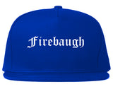 Firebaugh California CA Old English Mens Snapback Hat Royal Blue