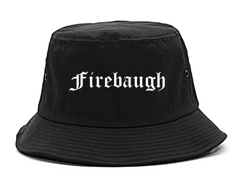 Firebaugh California CA Old English Mens Bucket Hat Black
