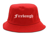 Firebaugh California CA Old English Mens Bucket Hat Red