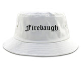 Firebaugh California CA Old English Mens Bucket Hat White