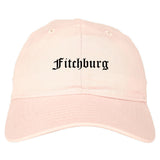 Fitchburg Massachusetts MA Old English Mens Dad Hat Baseball Cap Pink