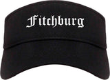 Fitchburg Massachusetts MA Old English Mens Visor Cap Hat Black