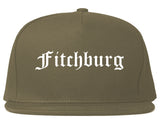 Fitchburg Wisconsin WI Old English Mens Snapback Hat Grey