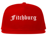 Fitchburg Wisconsin WI Old English Mens Snapback Hat Red