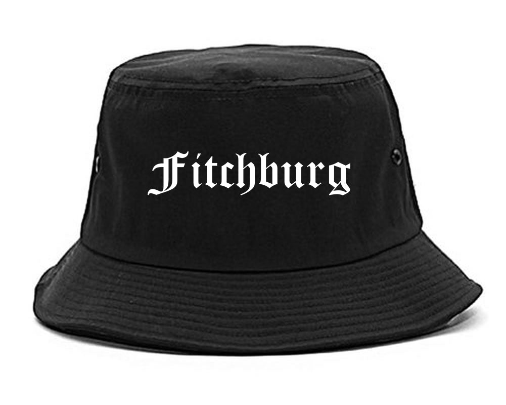 Fitchburg Wisconsin WI Old English Mens Bucket Hat Black