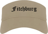 Fitchburg Wisconsin WI Old English Mens Visor Cap Hat Khaki