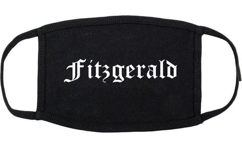 Fitzgerald Georgia GA Old English Cotton Face Mask Black